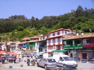Tazones, en la costa asturiana.