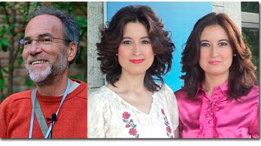 Juan Antonio Vilar, María Lara y Laura Lara, ganadores del XIII Premio Algaba de Biografía, Autobiografía, Memorias e Investigaciones Históricas 2015.