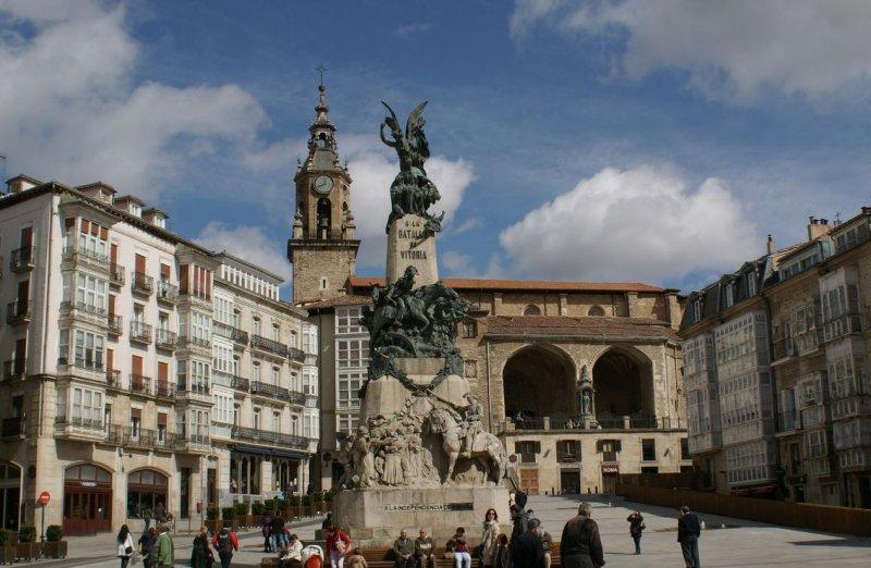 El monumento a la Batalla de Vitoria, corazón de Vitoria-Gasteiz