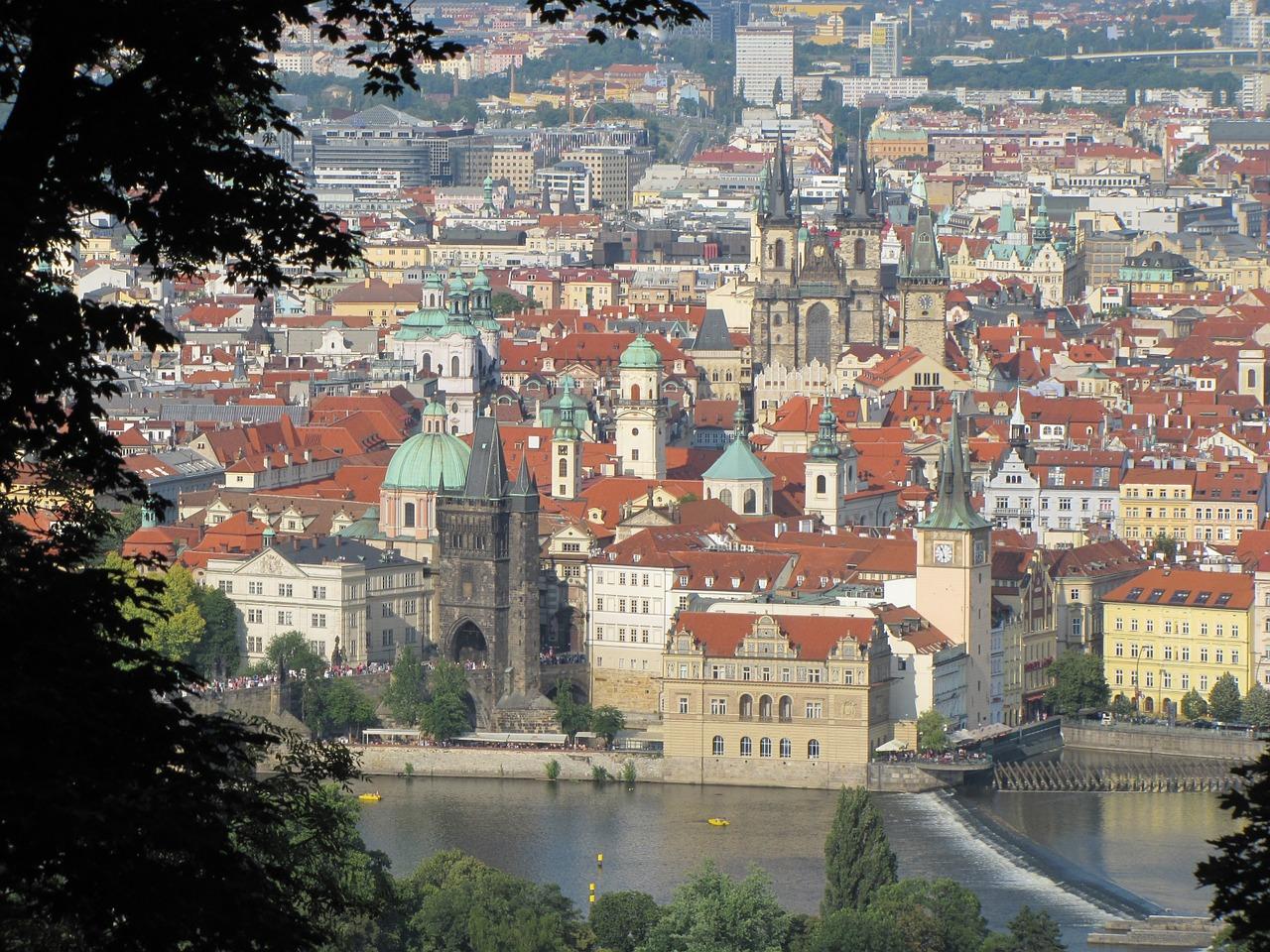 El río Moldava en Praga