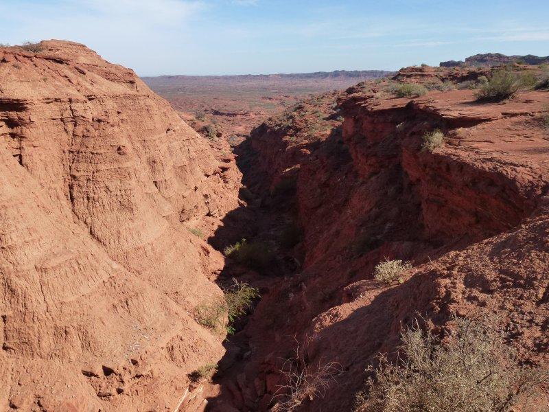 Preciosa imagen de la sierra de las Quijadas.