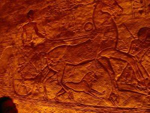 Ramsés II cabalgando