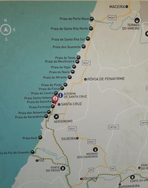 Conocido como el Eco Caminho do Sizandro, esta ruta une a la localidad de Torres Vedras con los pueblos de Foz y Santa Cruz