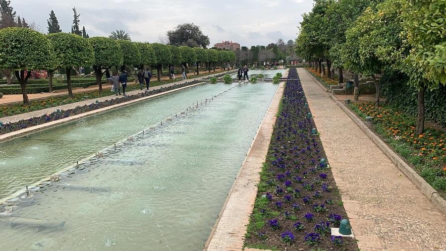 Los jardines del Alcázar son quizá el lugar más bonito de todo el conjunto