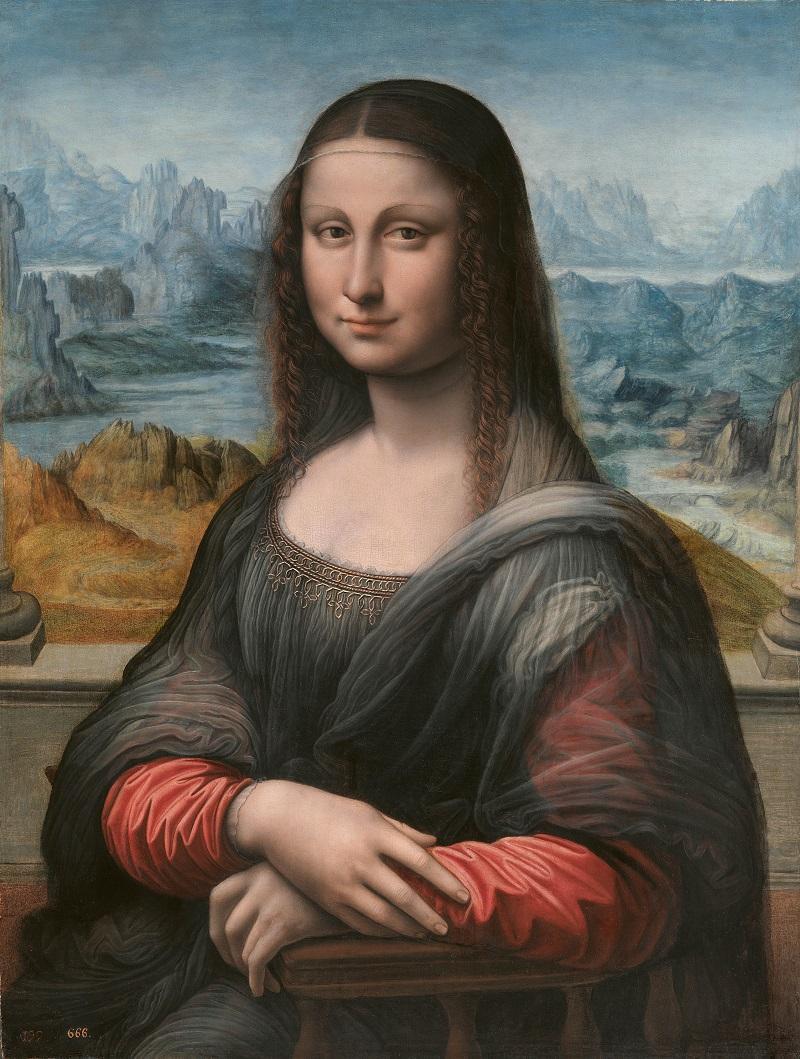 Mona Lisa (después de la restauración) Taller de Leonardo da Vinci, autorizado y supervisado por él Óleo sobre tabla, 76,3 x 57 cm 1507/8-1513/16 Madrid, Museo Nacional del Prado