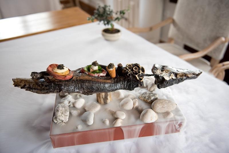 Escultura de esturión de caviar de Riofrío