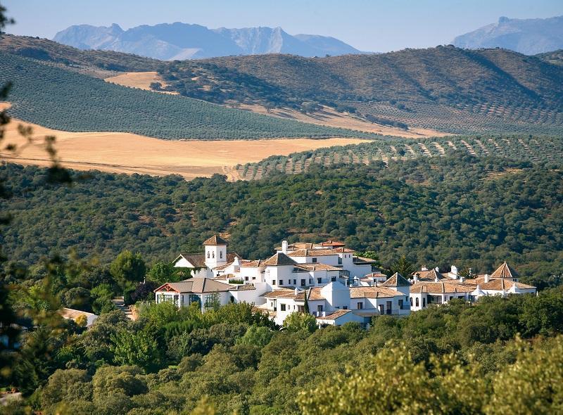 Localización del Hotel en la Sierra de Loja